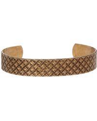 Link Up - Embossed Basketweave Textured Cuff Bracelet - Lyst