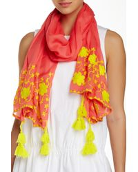 Michael Stars - Floral Stitchings Scarf - Lyst