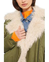 TOPSHOP - Jake Faux Fur Lined Jacket - Lyst