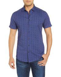 Stone Rose Regular Fit Sport Shirt - Blue