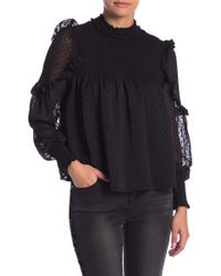 Romeo and Juliet Couture - Dotted Ruffle Sleeve Blouse - Lyst