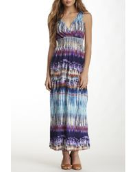 Sienna Rose - Embroidered Smocked Maxi Dress - Lyst