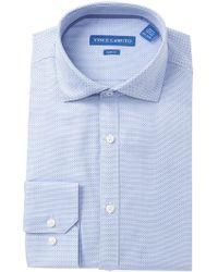 Vince Camuto - Dobby Slim Fit Dress Shirt - Lyst