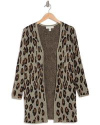 Love By Design Randee Long Patterned Cardigan - Multicolor