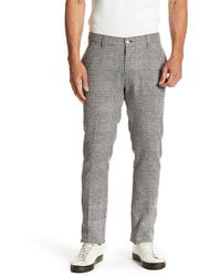 Vince Camuto - Patterned Flat Front Stretch Fit Trousers - Lyst