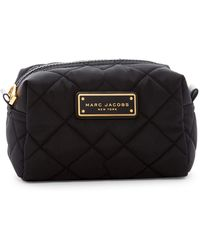 Marc By Marc Jacobs Quilted Nylon Large Cosmetic Case - Black