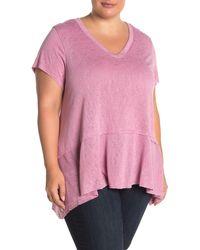 Bobeau - Peplum Hem Seamed T-shirt (plus Size) - Lyst
