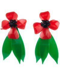 Oscar de la Renta - Daisy Flower Drop Clip On Earrings - Lyst