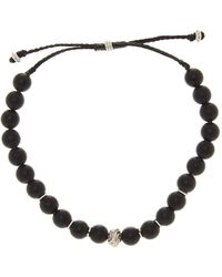 Link Up - Matte Onyx Bead Bracelet - Lyst