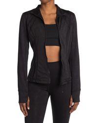 90 Degrees Camo Jacquard Full Zip Jacket - Gray