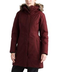 The North Face Arctic Ii Faux Fur Trim Parka - Red