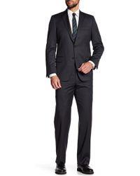 Hickey Freeman - Grey Woven Regular Fit Suit - Lyst