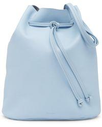 Steven Alan Dylan Drawstring Leather Bucket Bag - Blue