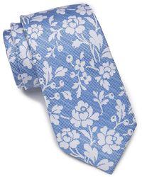 Ben Sherman Nico Floral Silk Tie - Blue