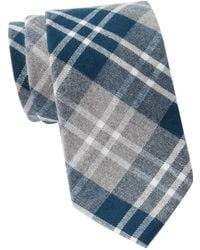 Tommy Hilfiger - Large Heathered Check Xl Tie - Lyst