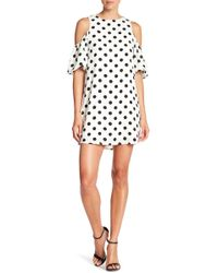 C. Luce - Polka Dot Cold Shoulder Dress - Lyst