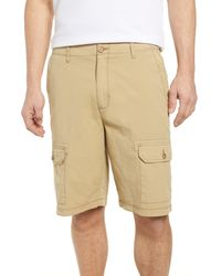 Tommy Bahama Riptide Classic Fit Ripstop Cargo Shorts - Natural