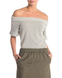 f9f20226067 Off-the-shoulder Knit Sweater - Gray