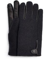 UGG Snap Tab Fabric Tech Glove - Black