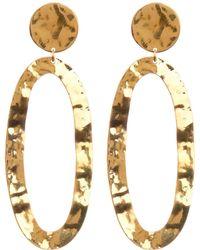 Soko - Hammered Open Oval Drop Earrings - Lyst