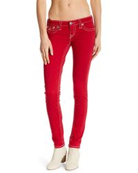 True Religion | Big T Flap Pocket Skinny Jeans | Lyst