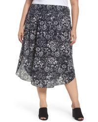 c2037f0129c Lyst - Sejour Ruffle Skirt (plus Size) in Black