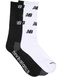 New Balance Logo Print Crew Socks - Black
