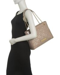 Love Moschino Borsa Quilted Dual Shoulder Tote - Gray
