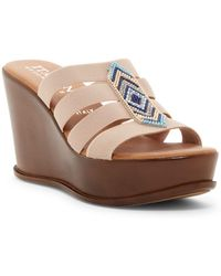 Italian Shoemakers | Beaded Platform Wedge Sandal | Lyst