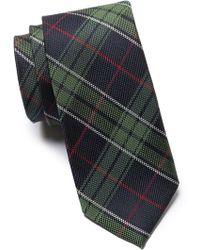 Ben Sherman Silk Maddox Plaid Tie - Green