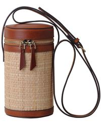 Most Wanted Usa - Woven Cylindrical Leather Trim Bag - Lyst