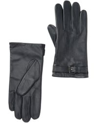Cole Haan Womens Haircalf Leather Wool Lined Glove Black