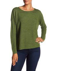 Eileen Fisher - Bateau Neck Lightweight Merino Wool Sweater - Lyst