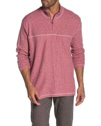 Vintage 1946 Half Zip Ribbed Pullover - Pink