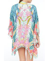 Trina Turk Terra Nostra Tassel Kimono Cover-up - Blue