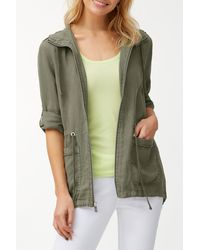 Tommy Bahama Two Palms Linen Anorak - Green