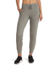 90 Degrees Quilted Slim Fit Sweatpants - Gray