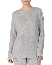 Donna Karan - Heathered Knit Lounge Pullover - Lyst