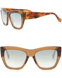 5a79fa78085 Lyst - Balenciaga Women s 59mm Cat Eye Plastic Sunglasses in Brown