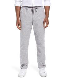Nordstrom Linen & Cotton Blend Drawstring Pants - Gray