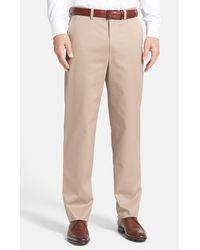 Nordstrom Classic Smartcaretm Relaxed Fit Flat Front Cotton Pants - Multicolor