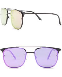 Quay - Private Eye 49mm Navigator Sunglasses - Lyst