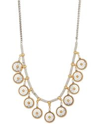 Lucky Brand - Geo Coin Collar Necklace - Lyst