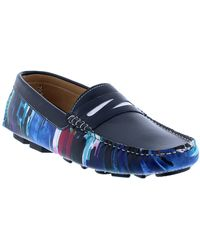 Robert Graham Russell Leather Driver Loafer - Blue
