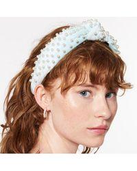 Lele Sadoughi Ice Blue Velvet Knotted Headband - Multicolor