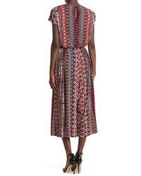 Sandra Darren Cap Sleeve Printed Jumpsuit - Multicolour
