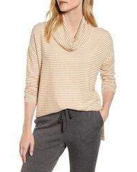 Lou & Grey Brushed Cowl Neck Top - Natural