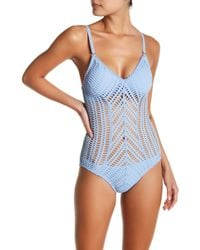 Robin Piccone Sophia Mitered One-piece Swimsuit - Blue