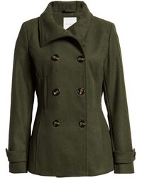 Thread & Supply Thread & Supply Double Breasted Peacoat - Green