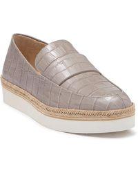 Via Spiga Tenley Croc Embossed Platform Loafer - Multicolour